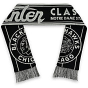 NHL 2019 Winter Classic Chicago Blackhawks Black Jacquard Scarf