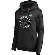 NHL Women's 2019 Winter Classic Chicago Blackhawks Logo Black Sweatshirt
