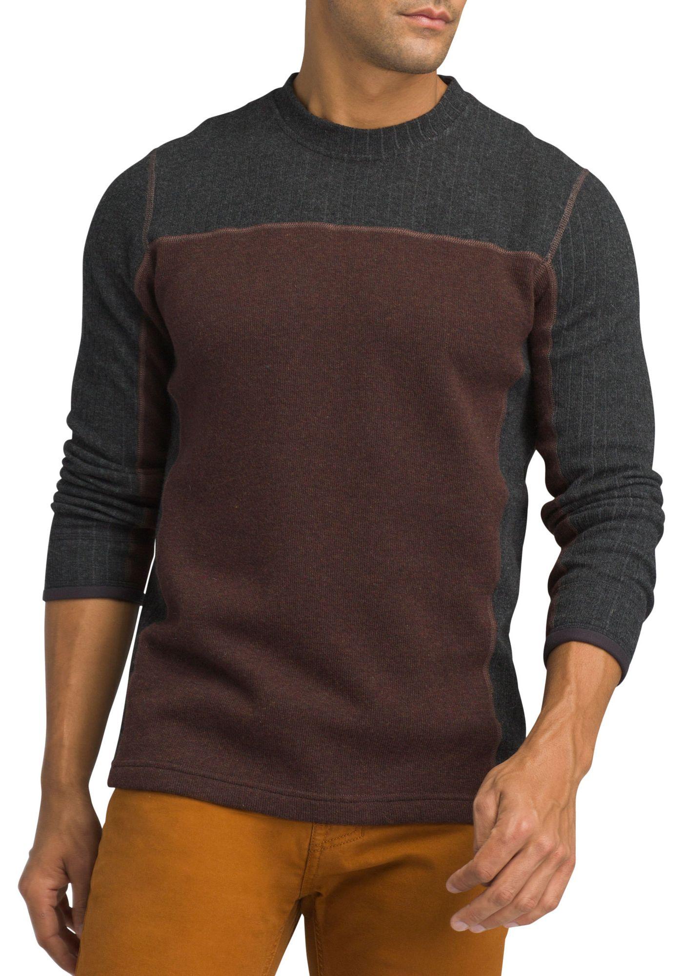 prAna Men's Wentworth Crew Long Sleeve Shirt