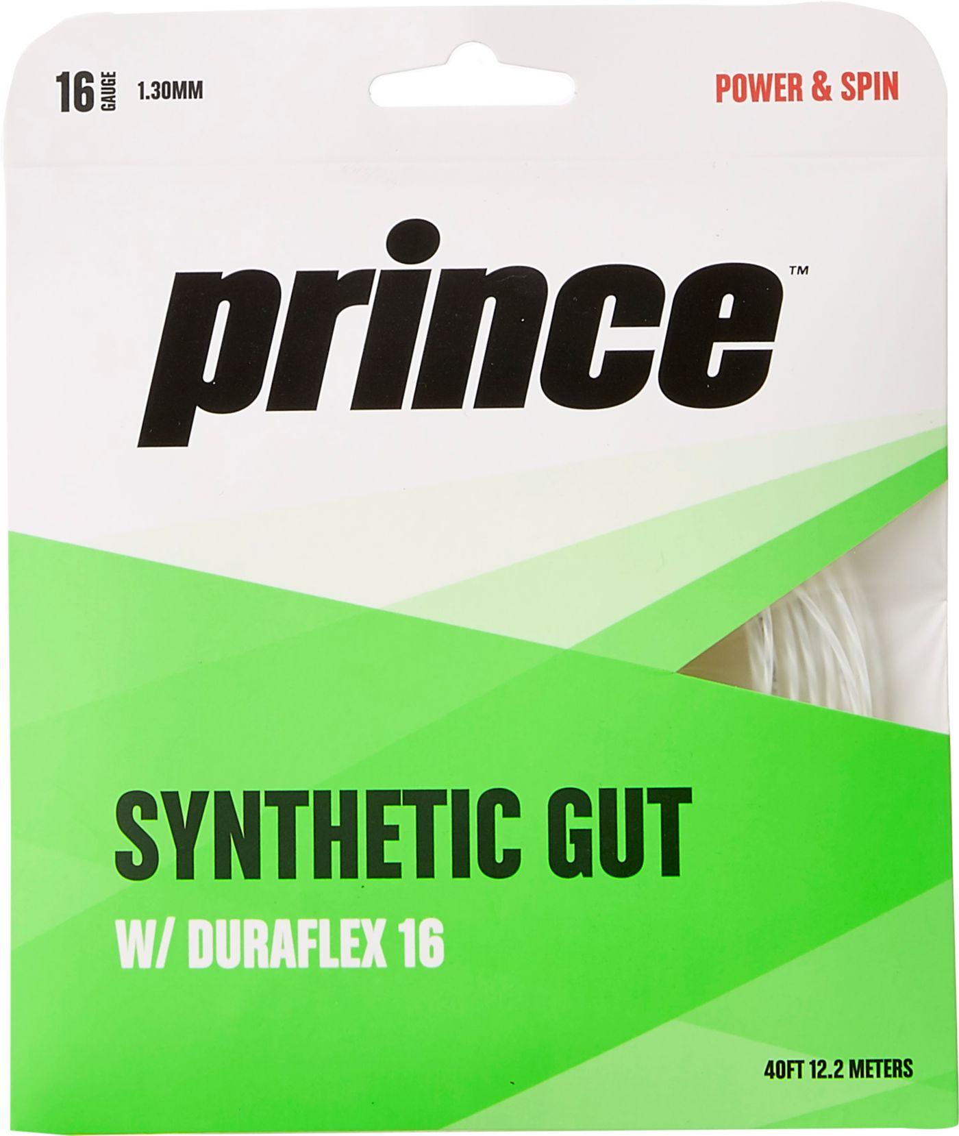 Prince Duraflex Synthetic Gut 16G Tennis Racquet String