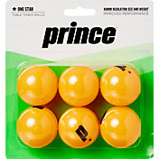 Prince One-Star Orange Table Tennis Balls 6 Pack