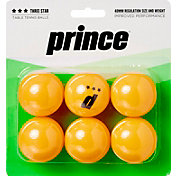 Prince Three-Star Orange Table Tennis Balls 6 Pack