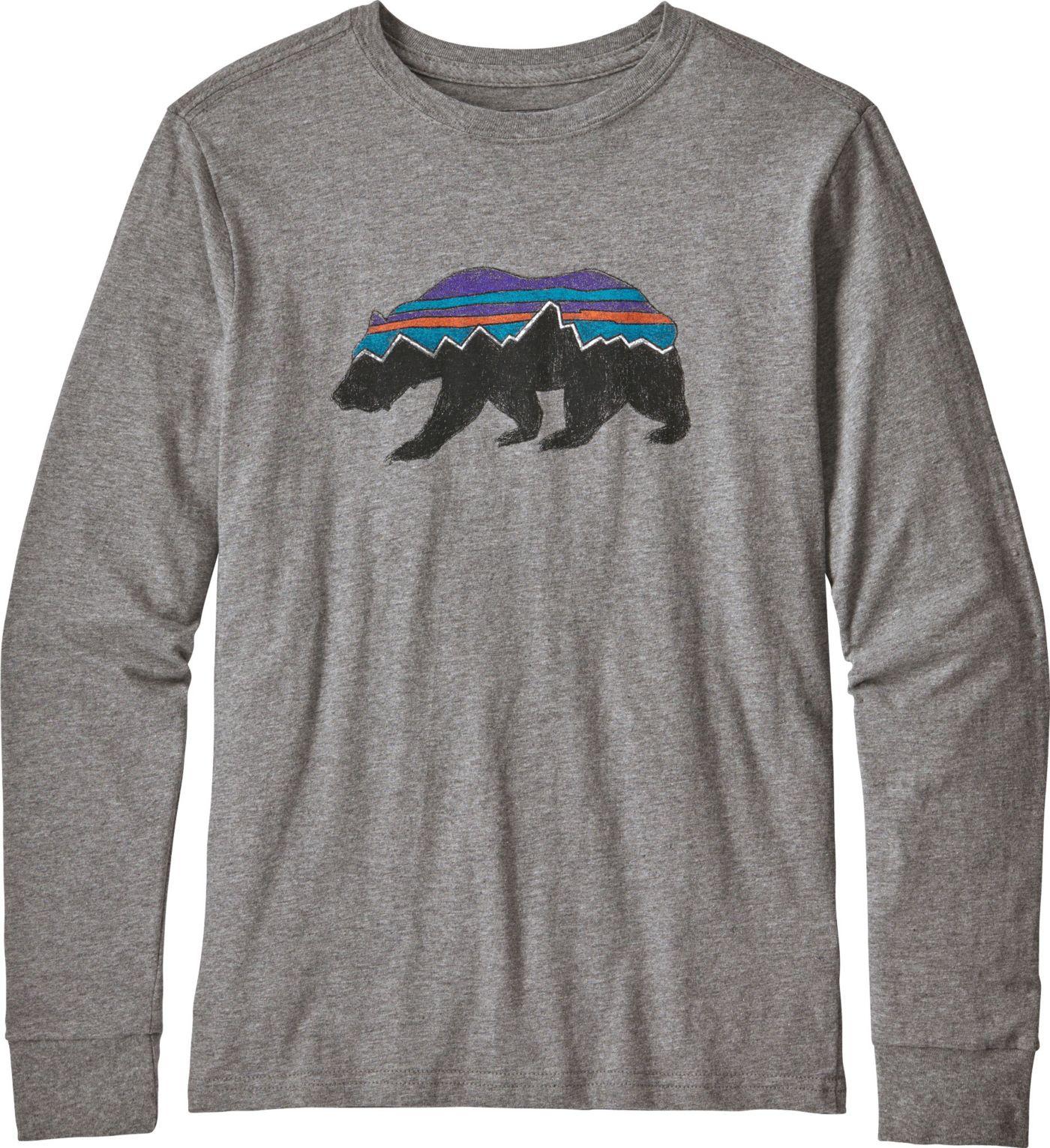 Patagonia Boys' Graphic Organic Long Sleeve Shirt