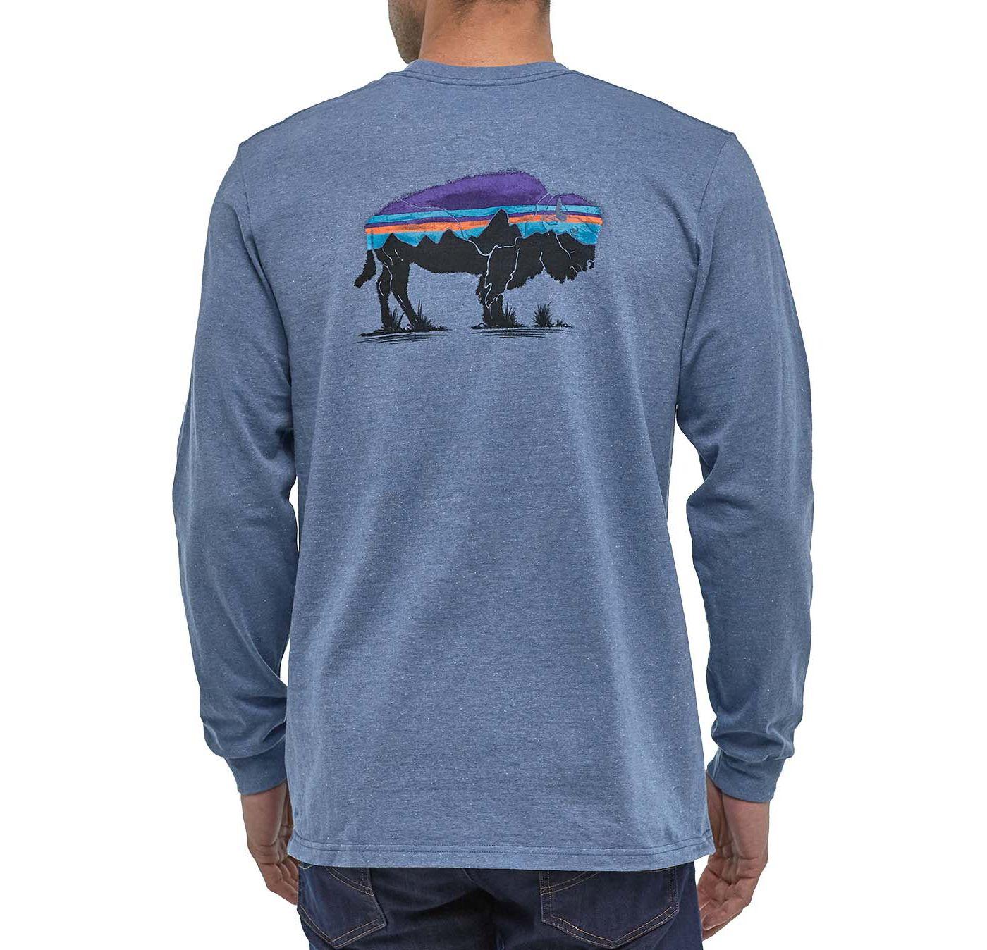 Patagonia Men's Fitz Roy Bison Responsibili-Tee Long Sleeve Shirt