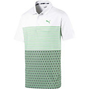 PUMA Boys' Road Map Blocked Golf Polo
