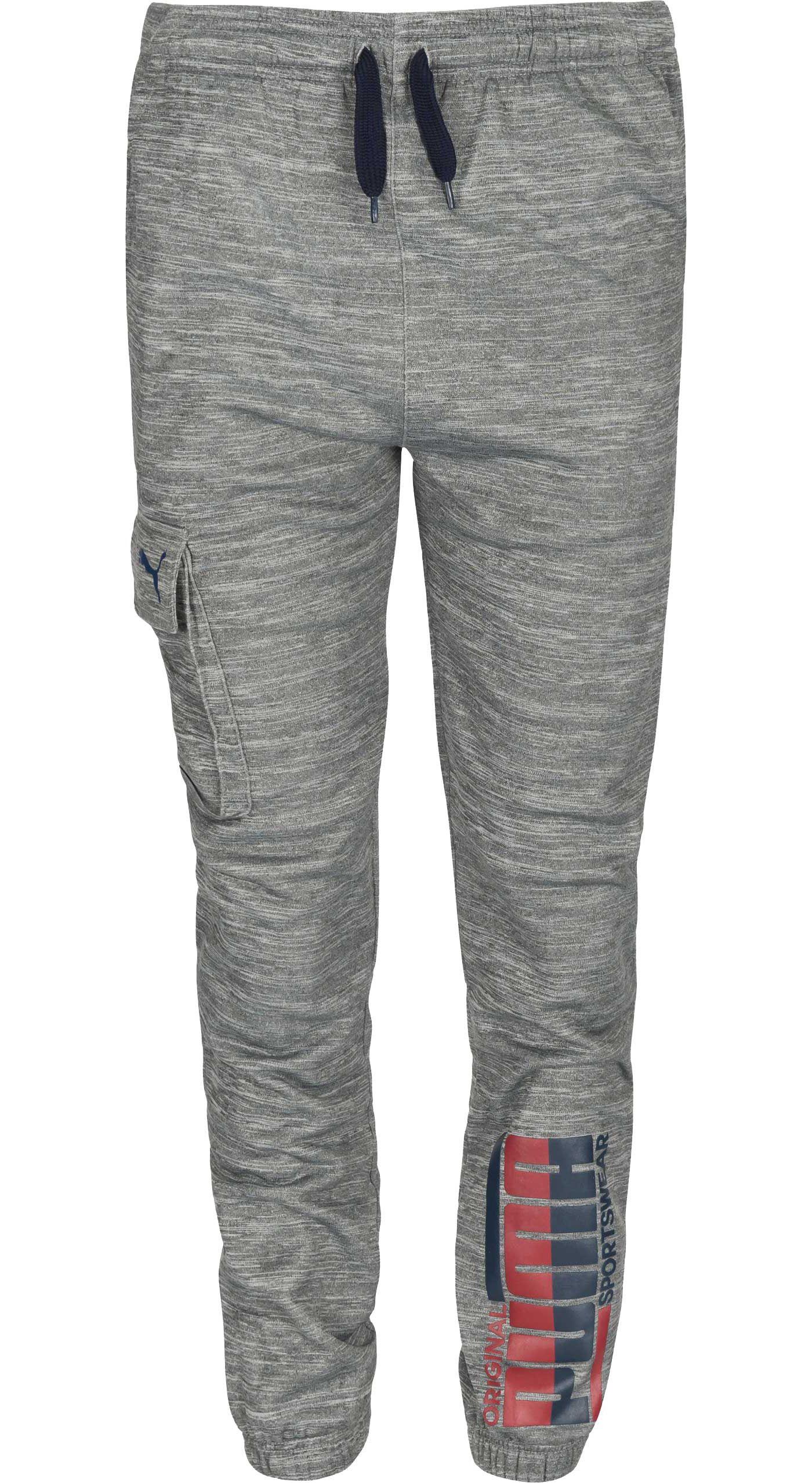 PUMA Boys' Cargo Pocket Tech Fleece Jogger Pants