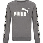PUMA Boys' Tape Fleece Crewneck Pullover