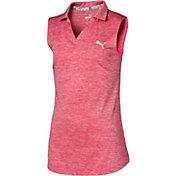 PUMA Girls' Sleeveless Heather Golf Polo