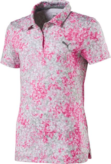 PUMA Girls' Floral Golf Polo