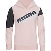 PUMA Girls' Graphic Pullover Hoodie
