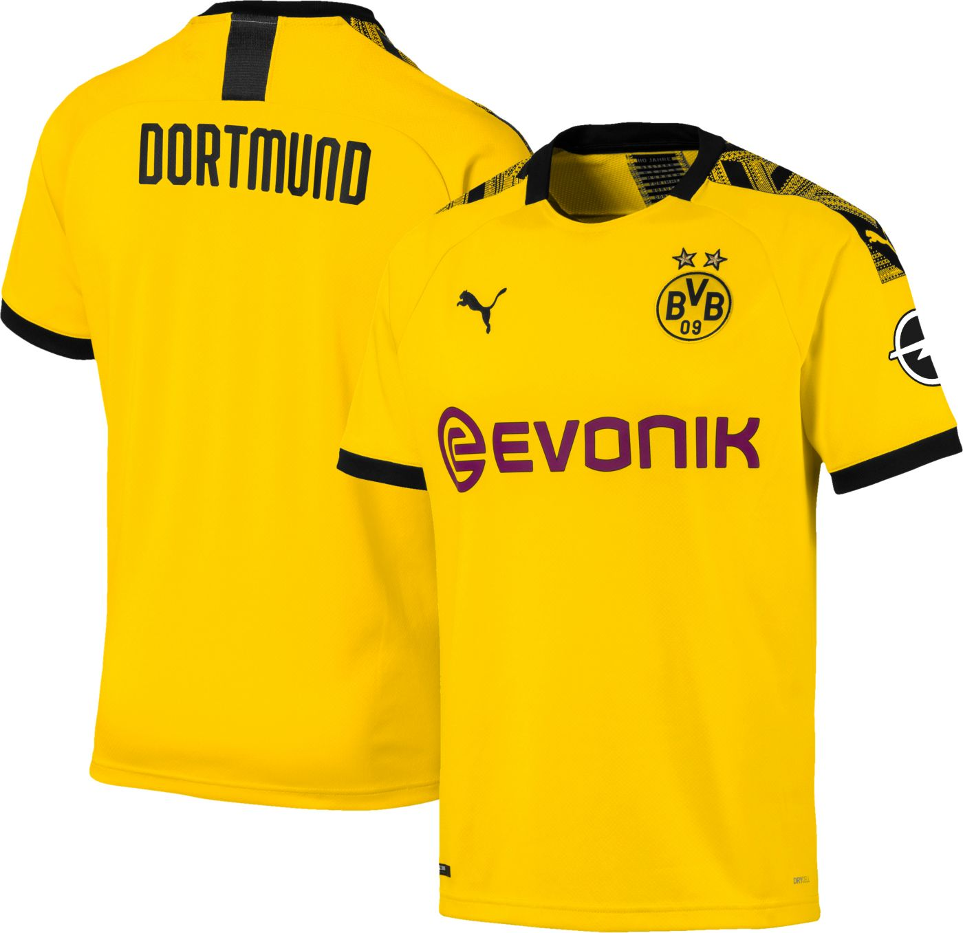 PUMA Men's Borussia Dortmund '19 Stadium Home Replica Jersey