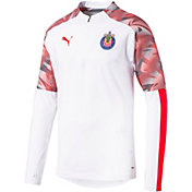 PUMA Men's Chivas White Quarter-Zip Pullover