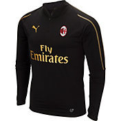 PUMA Men's AC Milan Black Quarter-Zip Pullover