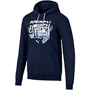PUMA Men's Manchester City Graphic Black Pullover Hoodie