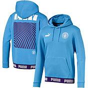 PUMA Men's Manchester City Culture Blue Pullover Hoodie