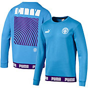 PUMA Men's Manchester City Culture Blue Crew Neck Sweatshirt