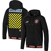 PUMA Men's Manchester City Culture Black Pullover Hoodie