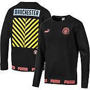 PUMA Men's Manchester City Culture Black Crew Neck Sweatshirt