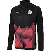 PUMA Men's Manchester City Stadium Black Full-Zip Jacket