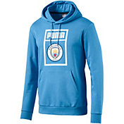 PUMA Men's Manchester City Shoe Tag Blue Pullover Hoodie