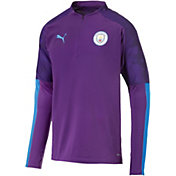 PUMA Men's Manchester City Purple Quarter-Zip Pullover