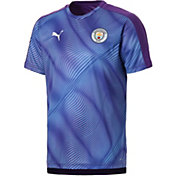 PUMA Men's Manchester City Prematch Purple Shirt