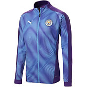 PUMA Men's Manchester City Stadium Purple Full-Zip Jacket