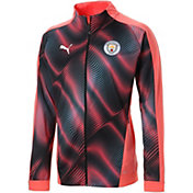 PUMA Men's Manchester City Stadium Orange Full-Zip Jacket