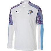 PUMA Men's Manchester City White Quarter-Zip Pullover
