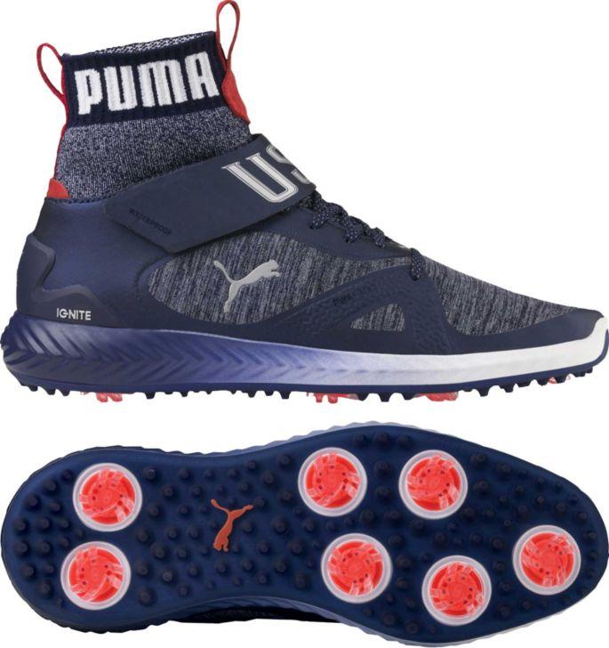 241124104b PUMA Men's IGNITE PWRADAPT Team USA Hi-Top Shoes