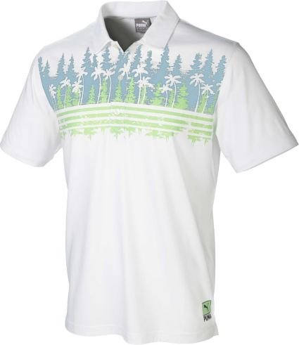 PUMA Men's Play Loose Pines Golf Polo
