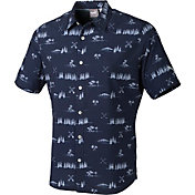 PUMA Men's Play Loose Paradise Button Down Golf Shirt