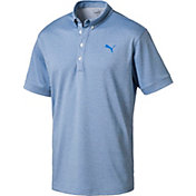 PUMA Men's Oxford Heather Golf Polo