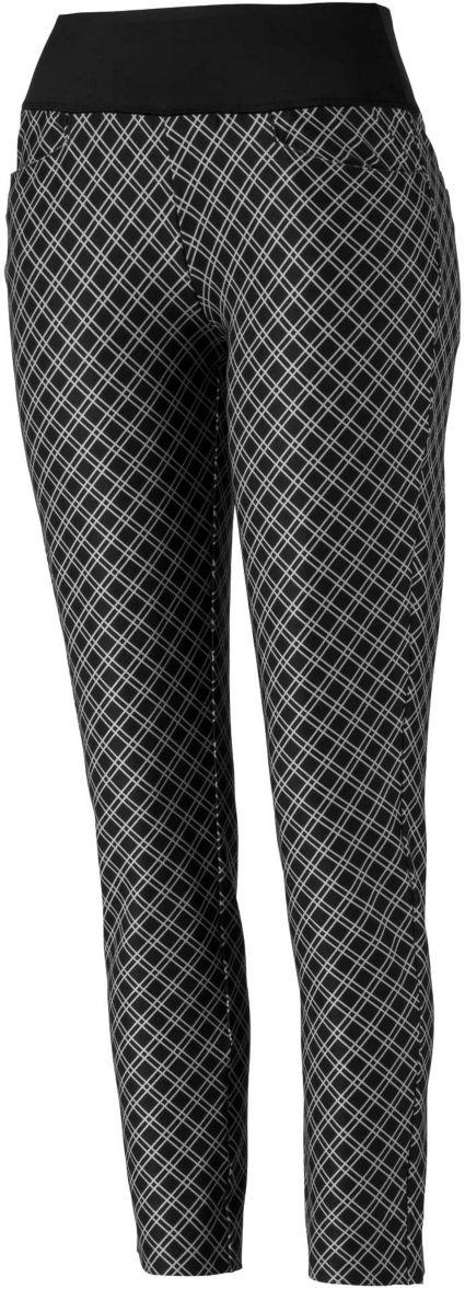 PUMA Women's PWRSHAPE Checker Golf Pants