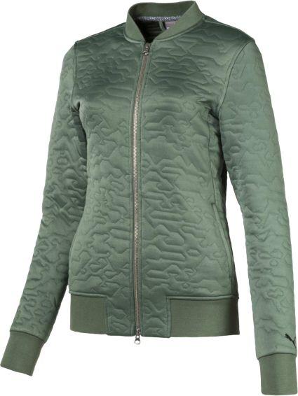 PUMA Women's Camo Bomber Golf Jacket