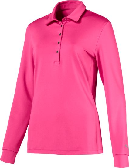PUMA Women's Long Sleeve Golf Polo