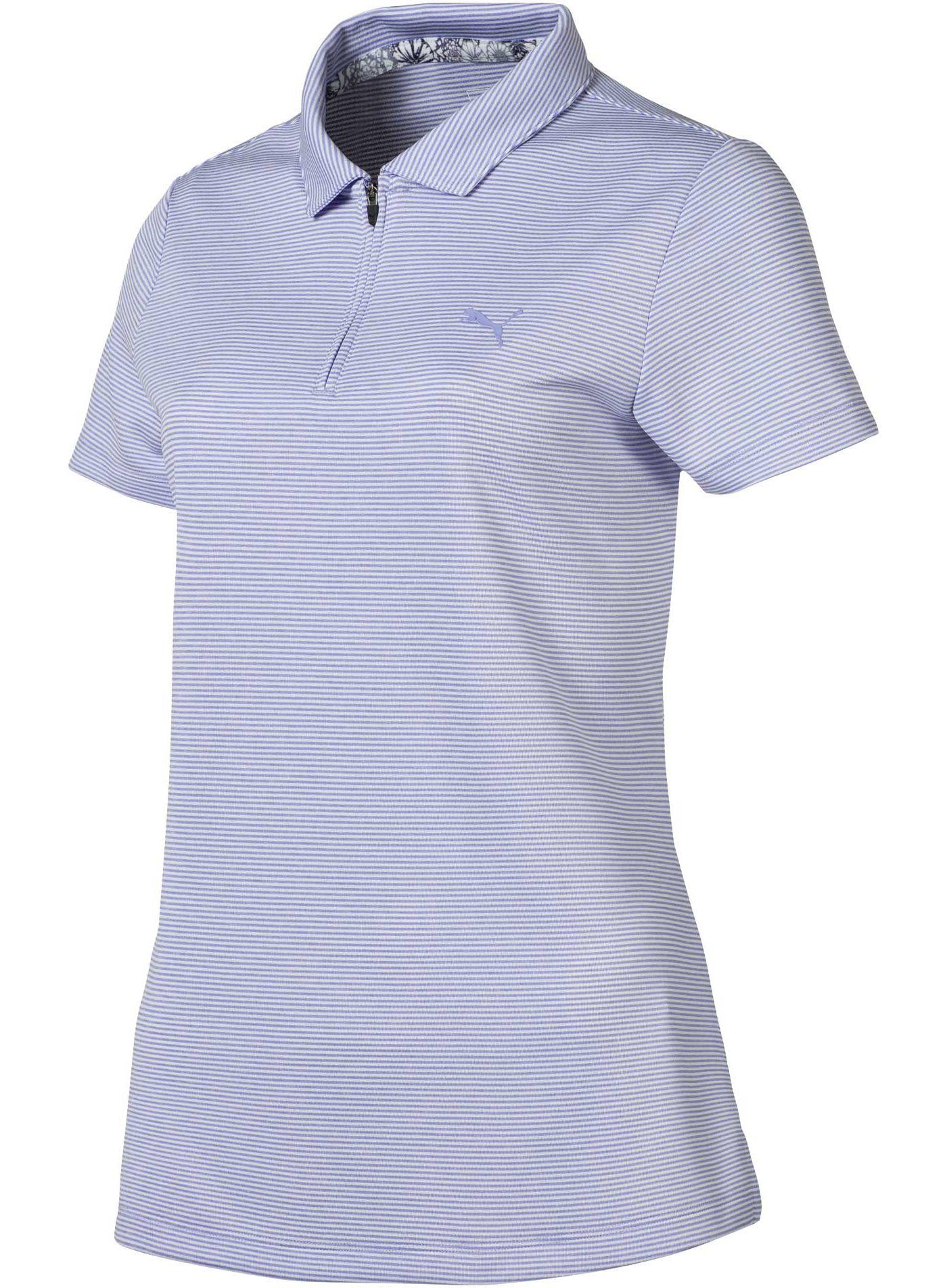 PUMA Women's Soft Stripe Golf Polo
