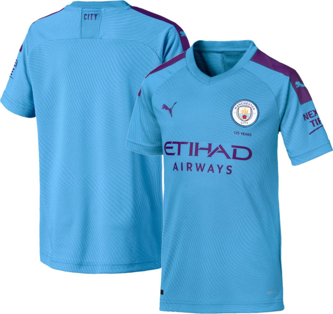 buy popular 3c2f4 cb5ae PUMA Youth Manchester City '19 Stadium Home Replica Jersey
