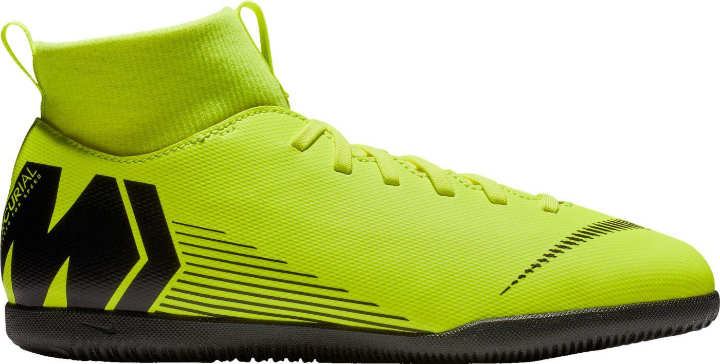 Nike Kids' MercurialX Superfly 6 Club Indoor Soccer Shoes