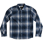 Quiksilver Boys' Fatherfly Flannel Long Sleeve Shirt