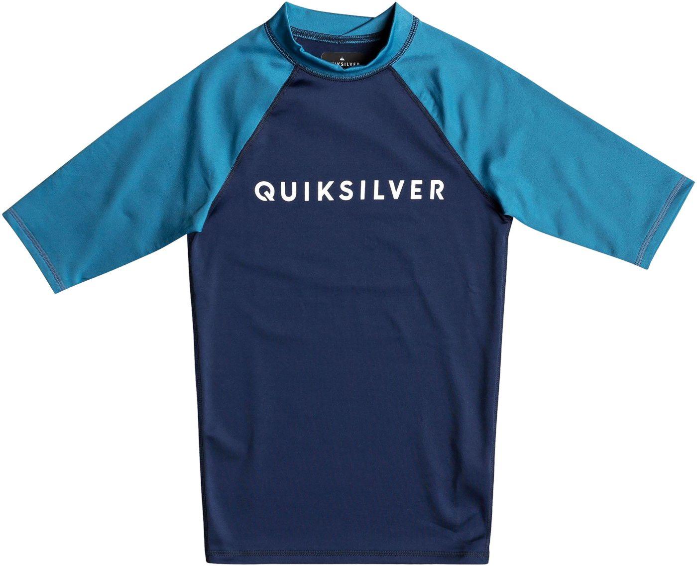 Quiksilver Boys' Always There Short Sleeve Rash Guard