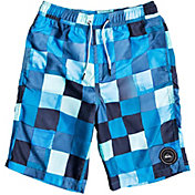 "Quiksilver Boys' Resin Check Volley 19"" Board Shorts"