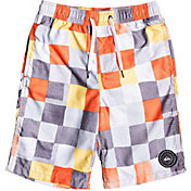 Quiksilver Boys' Resin Check Volley 19? Board Shorts