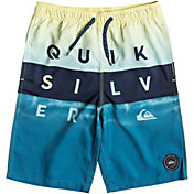 "Quiksilver Boys' Word Block Volley 19"" Board Shorts"