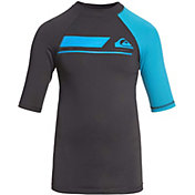 Quiksilver Boys' Active Short Sleeve Rash Guard