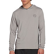 Quiksilver Men's Amphibian Hooded Long Sleeve Rash Guard (Regular and Big & Tall)