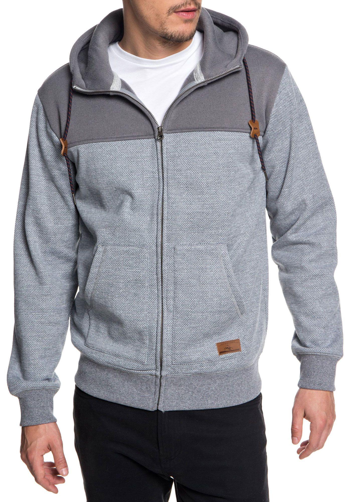 Quiksilver Men's Keller Block Fleece Full Zip Hoodie