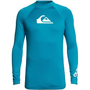 Quiksilver Men's All Time Long Sleeve Rash Guard (Regular and Big & Tall)