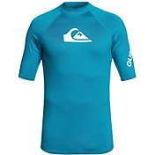 Quiksilver Men's All Time Short Sleeve Rash Guard (Regular and Big & Tall)