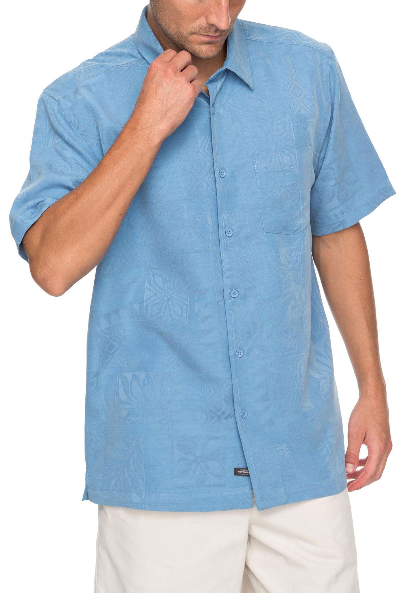 Quiksilver Men's Waterman Malama Bay Short Sleeve Shirt
